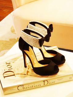 Christian Dior & Kate spade tuxedo shoes.