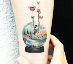 Globe tattoo by Eva Krbdk
