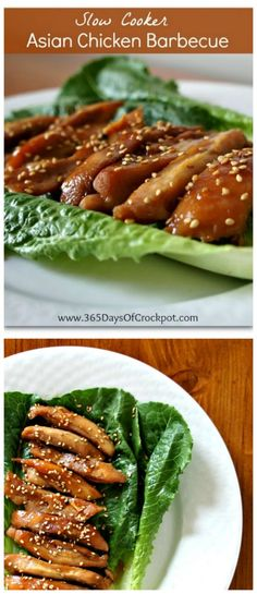Slow Cooker Asian Chicken Barbecue from 365 Days of Slow Cooking; this is easy and sounds delicious for a family dinner!  [Featured on SlowCookerFromScratch.com]