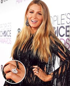 Scroll the best celebrity engagement rings to see what sparklers these iconic women have rocked. Blake Lively Ring, Blake Lively Engagement Ring, Blake Lively Wedding, Huge Engagement Rings, Engagement Solitaire, Celebrity Engagement Rings, Celebrity Wedding Dresses, Celebrity Weddings, Celebrity Style