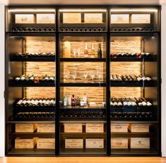 Glass Wine Cellar, Home Wine Cellars, Wine Cellar Design, Wine Design, Caves, Liquor Storage, Basement Bar Plans, Diy Garden Fountains, Wine Wall