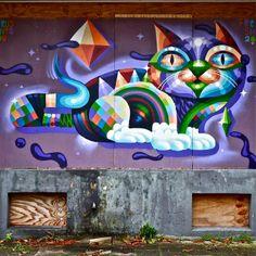Street art in Rotterdam, The Netherlands by Virus #worldgraffitiart #streetart #streetartists #urbanartistsonline #urbanart #graffiti #freewalls