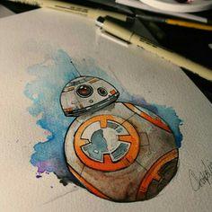 Tattoo Aquarela Star Wars BB-8