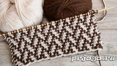 Double Knitting Patterns, Knitting Stiches, Knit Patterns, Stitch Patterns, Tunisian Crochet, Knit Crochet, Mosaic Knitting, Tricot Simple, Herringbone Stitch