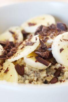 Tasting Good Naturally : Porridge de l'hiver banane chocolat #vegan