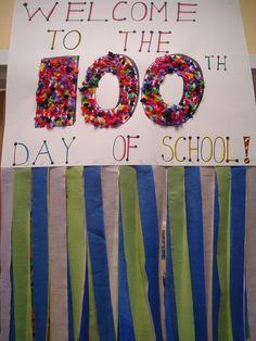 Autre option pour mettre à la porte d'entrée lors de la fête des 100 jours.
