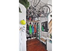 Page: - Finding space in your home for your beloved bike(s) is something most cyclists have to struggle with. And even once you've managed to squeeze it into the narrow hallway, you. Bike Storage, Garage Storage, Loft House, Apartment Therapy, Square Feet, House Tours, Wardrobe Rack, Indoor, Gallery
