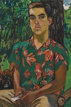 somanyhumanbeings: Alice Neel, Richard with dog (1954)