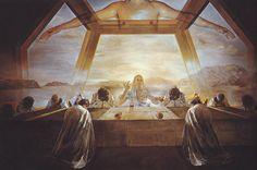 """Salvador Dali: """"The Sacrament of the Last Supper"""",1955.(National Gallery of Art,Washington,DC,USA) http://www.nga.gov/content/ngaweb.html"""