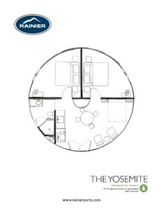 yurt floor plan sustainable living Pinterest Yurts Tiny