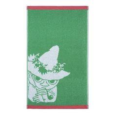 Snufkin hand towel green 30 x 50 cm by Finlayson