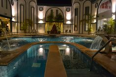Our Beautiful Spa at Night  www.sandos.com