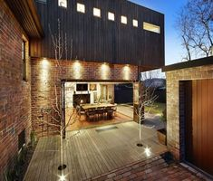 Image result for new build individual design stock brick black timbers