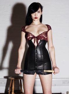 Nappa Leather Corset Dress by Almeida£420.00