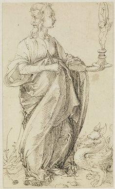 Albrecht Dürer, La Prudence, département des arts graphiques, Louvre