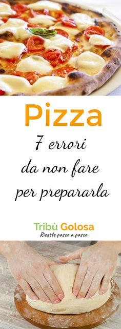 Everyone loves pizza! Many Germans also try Italian delicacies at home, unfortunately not always with success. Here are 7 mistakes you often make when preparing pizza that you should avoid if you want to have an excellent pizza! Italian Cooking, Italian Recipes, Ricotta, Calzone, Sugar Free Recipes, Antipasto, Finger Foods, Food To Make, Food And Drink