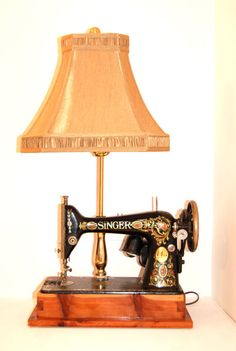 antique sewing machine + lamp - Google Search
