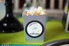 Popcorn Favor Box from a Science Lab Birthday Party via Kara's Party Ideas KarasPartyIdeas.com (33)