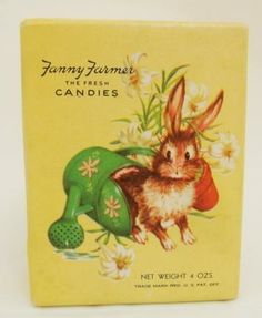icollect247.com Online Vintage Antiques and Collectables - Fanny Farmer Easter Candy Box with Egg Ornament 1950s