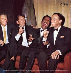 The Rat Pack, Dean Martin, Classic Hollywood, Old Hollywood, Sammy Davis Jr, Colorized Photos, Colorized History, Believe, History Images