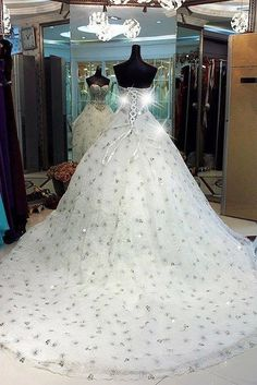 TO DIE FOR LOVE THIS DRESS Crystal princess wedding dress