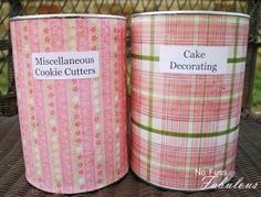 Recycle oatmeal containers for pantry storage love this idea  http://www.nofussfabulous.com/?p=4895