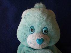 Care Bear Blue Moon & Star Lovey Security Blanket Teething Ring Baby #Prestige