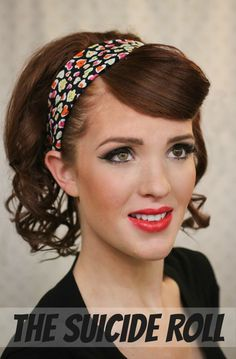 Hair idea for the vintage Christmas Party! The Freckled Fox - a Hairstyle Blog: Modern Pin-up Week: #3 - The Suicide Roll