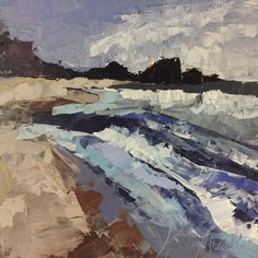 Abstract Beach. Oil painting by Kate Mullin