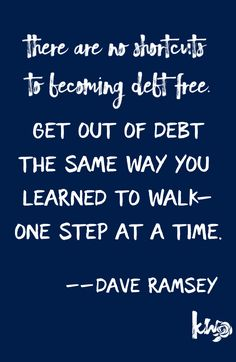 25 Dave Ramsey Quotes to Keep You Disciplined on your journey to being debt free #kyanwolfe #quotes #debtfree