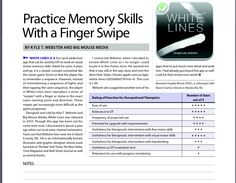 App Review by Angela Wood OTR/L. Visual Motor Memory Skills. Pinned by SOS Inc. Resources http://pinterest.com/sostherapy.
