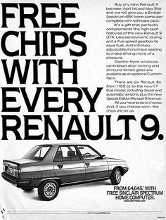 free chips with every renault 9