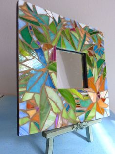 Mosaic Mirror  Tropical Garden 2 by glassetc on Etsy