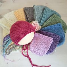 Classic Merino Newborn Baby Bonnet in 10 soft colours, Ready to Ship A sweet, classic baby bonnet to match your photo shoot. Soft Merino yarn. Please wash gently by hand, lay flat to dry Please never leave a baby unattended in a bonnet.