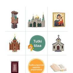 Tutki tilaa -ohjevihko #ympäristönlukutaito #EuropeForCulture #kulttuuriperintö Finland, Taj Mahal, Religion, Teaching, Building, Travel, Viajes, Buildings, Destinations