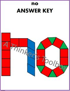 Pattern Blocks Sight Word Puzzles by A Thinker's Toolbox are a fun way for your students to explore their 2 letter sight words. Included are black line puzzles for 25 two letter sight words.