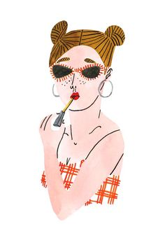 Bodil-Jane-Folio-Illustration-Beauty-Lipstick-Watercolour-Portrait-L.jpg (636×900)