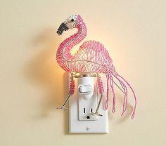 Flamingo Beaded Nightlight #pbkids