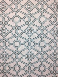 Tropical Blue - Pavilion Fretwork is a light blue geometric patterned material that would make great pillow or cushion covers. The material color would work well as an accent color to lighten up a room. Our talented team would be happy to help you with your home decor project! Drapery Panels, Panel Curtains, Cushion Covers, Pillow Covers, Window Seat Cushions, Geometric Fabric, Pattern Matching, Fabric Names, Accent Colors