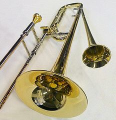 Doublebell trombone Brass Musical Instruments, Classically Trained, Lonely Heart, Trombone, Horns, Freddie Hubbard, Musicals, Give It To Me, Geek Stuff