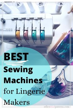 Guide to home sewing machines great for lingerie and bra making. Sewing Bras, Sewing Lingerie, Hand Sewing, Sewing Tools, Sewing Hacks, Sewing Tutorials, Sewing Patterns, Sewing Projects, Diy Projects