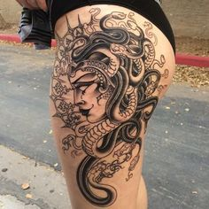 The seductive and powerful Greek temptress Medusa features in these hauntingly beautiful tattoo designs.