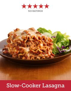 Take the work out of traditional lasagna by making this member-favorite slow-cooker recipe—no pre-cooked noodles required! Like your pasta with a little kick? Try swapping in spicy sausage instead.