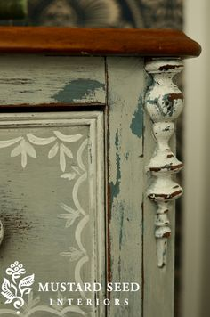 Great detail of this night stand/chest from Miss Mustard Seed