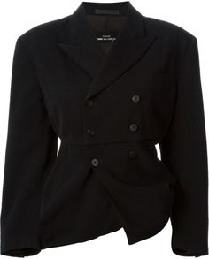 Comme Des Garçons Double Breasted Jacket in Black