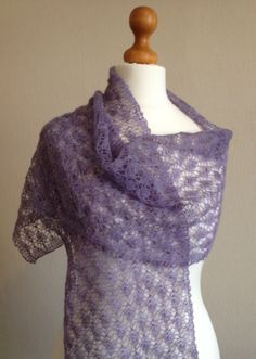 Hand Knitted Cobweb Lace Wrap by Snugglescuddles on Etsy, Knitted Shawls, Lace Shawls, Suri Alpaca, Great Mothers Day Gifts, Lace Wrap, All Things Purple, Lace Patterns, Lace Knitting, Crochet Clothes