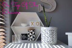 Office decor kmart hack Lisa T for Target canister black and white monochrome decor