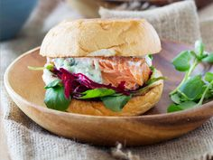 The combination of salmon with beetroot and watercress in these burgers make them a flavour bomb!