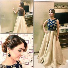 My stunning gown at Mumbai Global Awards Frm @kalkifashion Jewellery frm @shillpapuriidesignerjewellery Thk u Glad U Came @Instagladucame