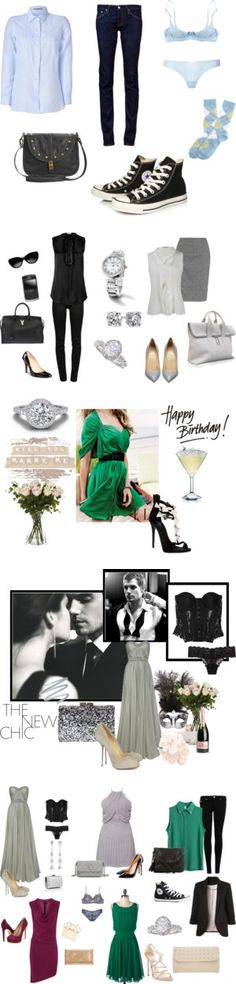 """Fifty Shades of Grey - Ana Steele closet"" by fiftycross on Polyvore"